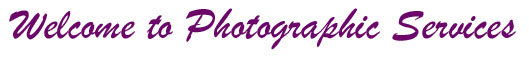 banner - welcome to photographic services