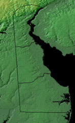 Topographic Map of Delaware