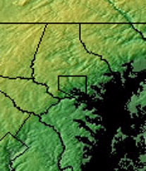 Topographic Map of DC