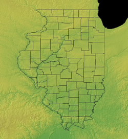 Topographic Map of Illinois