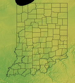 Topographic Map of Indiana