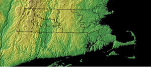 Topographic Map of Massachusetts