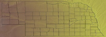 Topographic Map of Nebraska