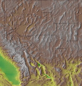 Topographic Map of Nevada