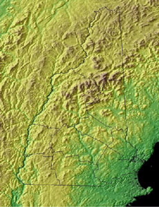 Topographic Map of New Hampshire