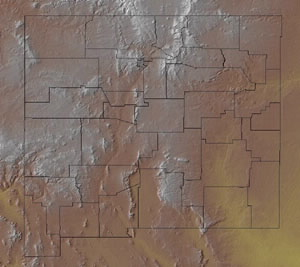 Topographic Map of New Mexico