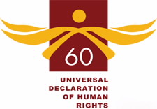 Universal Declaration of Human Rights logo. Click for White House Fact Sheet.